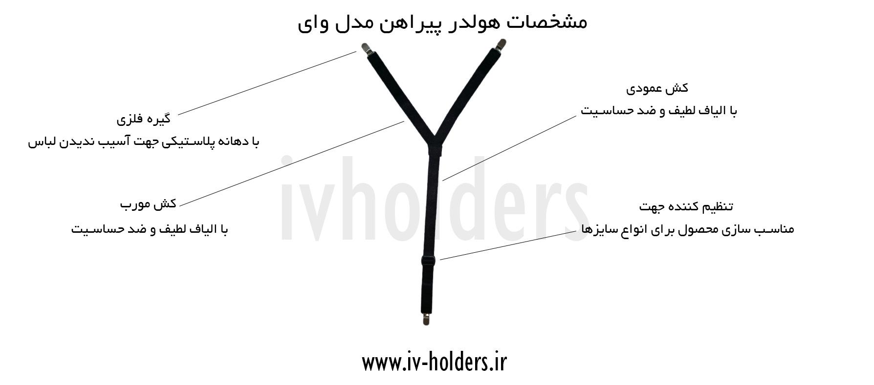 مشخصات هولدر پیراهن مردانه مدل وای Y