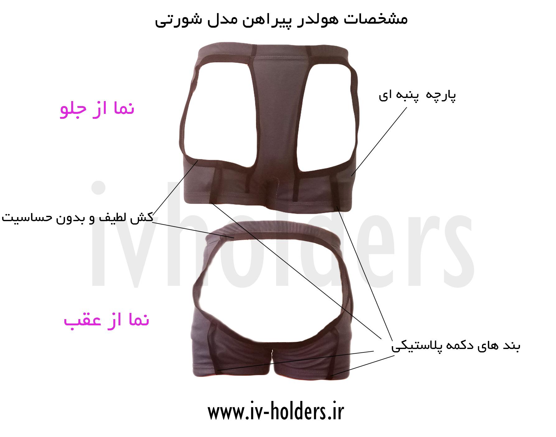 مشخصات هولدر پیراهن مردانه مدل شورتی
